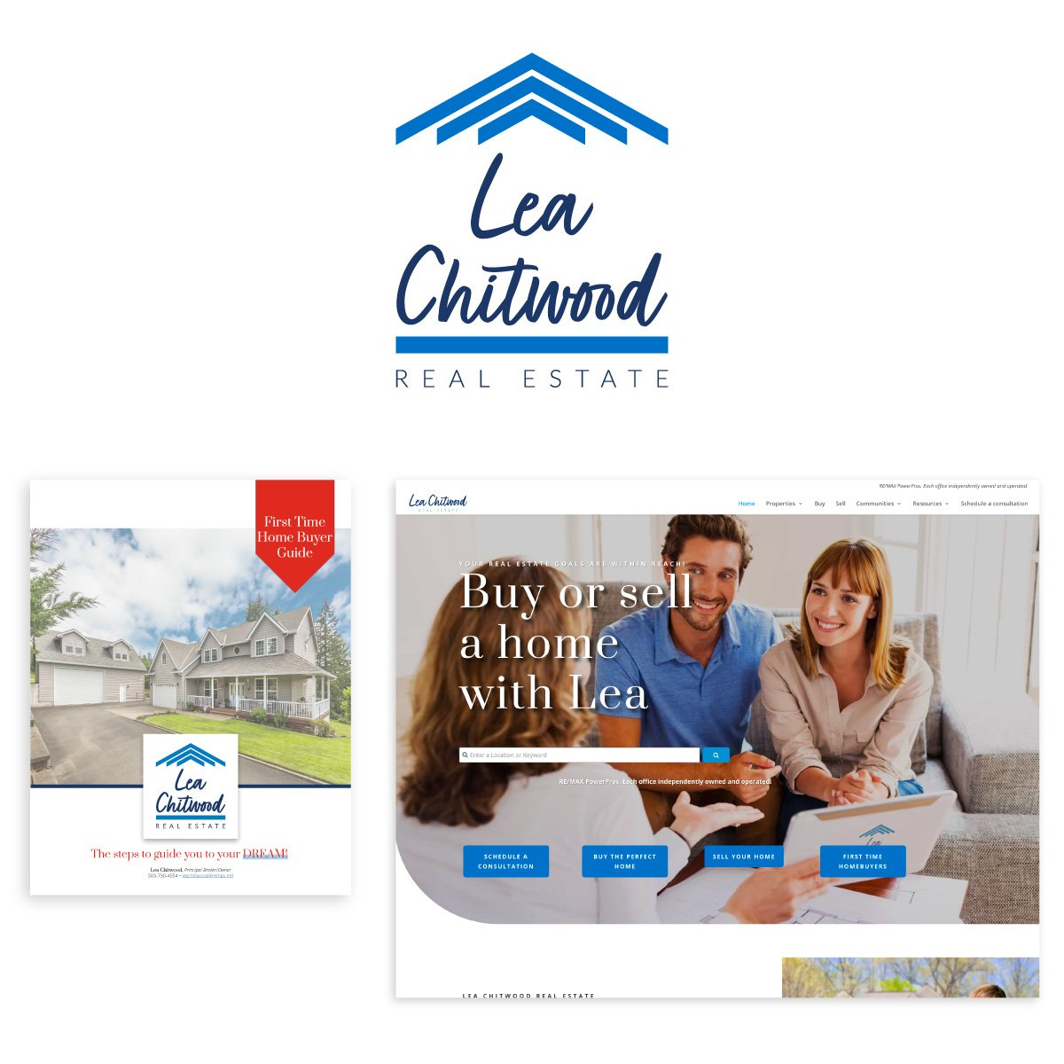 Lea Chitwood Real Estate visual brand and website design