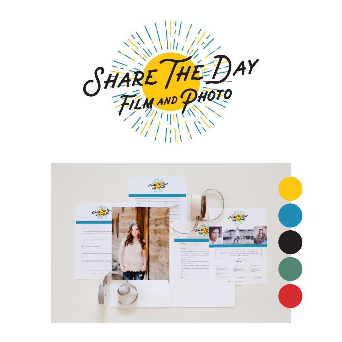 Share The Day Film & Photo - Logo design and visual branding